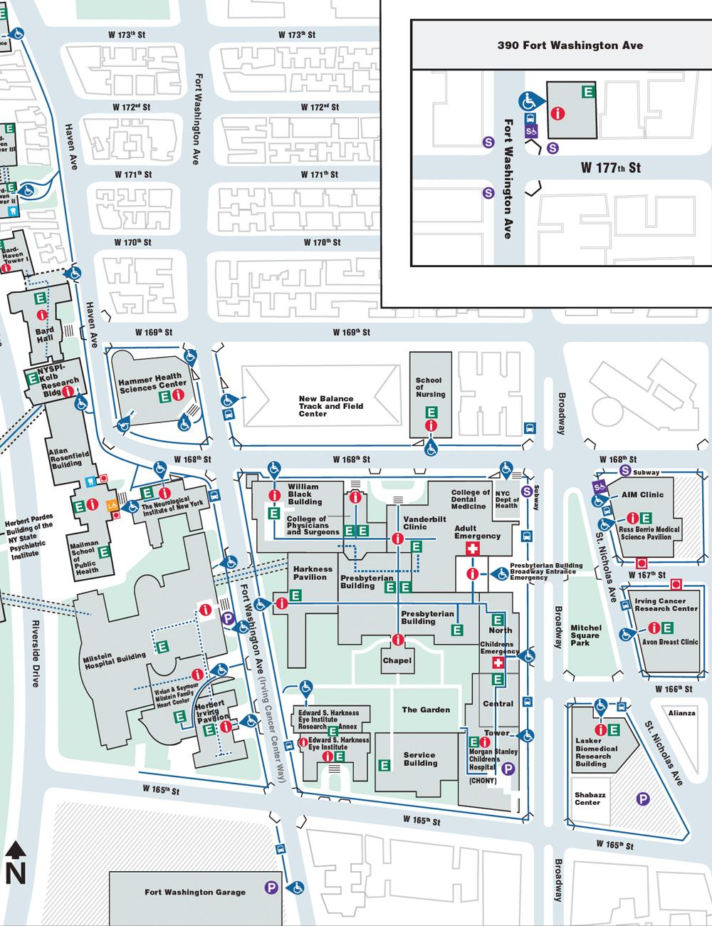 Columbia University Medical Center (CUMC) Map