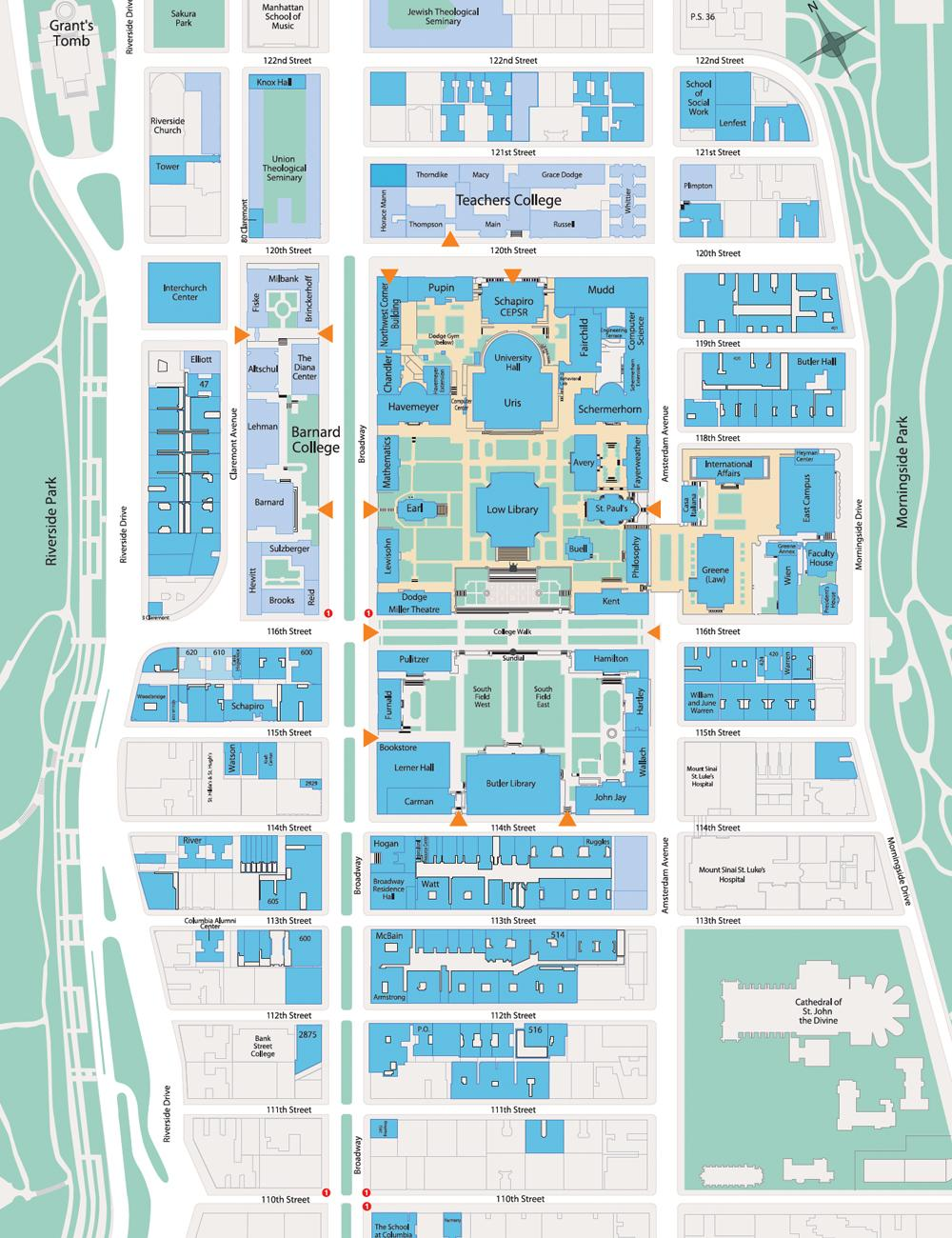 Morningside Campus Map