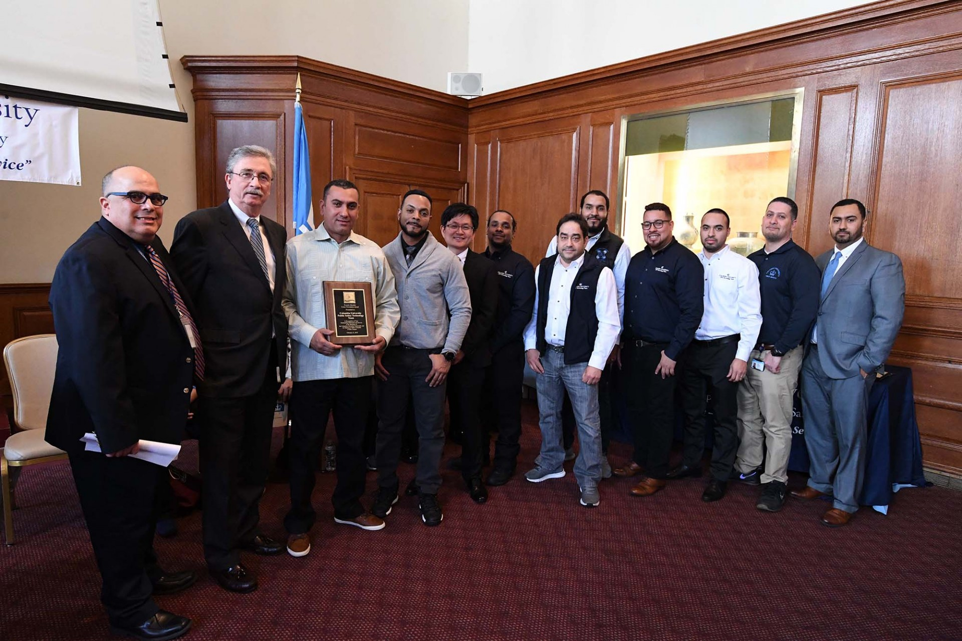 Technology team accepts Crime Prevention Award