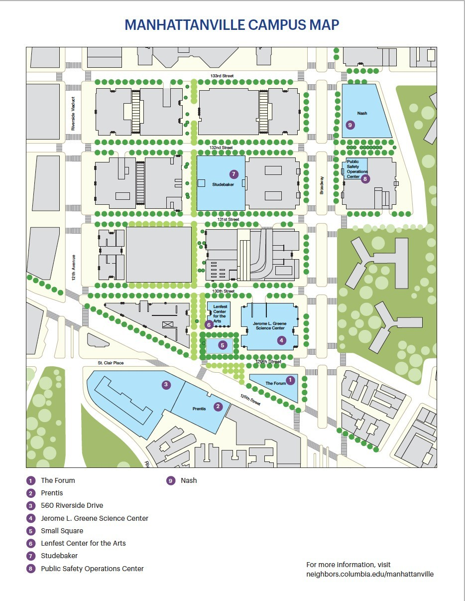 Manhattanville Campus Map