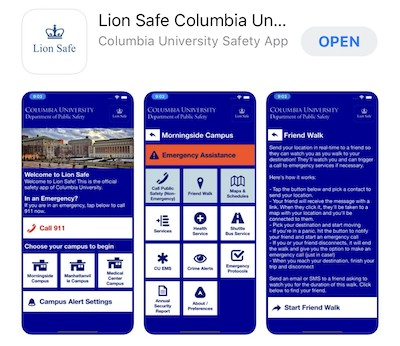 Screenshot of Lion Safe app in Apple app store